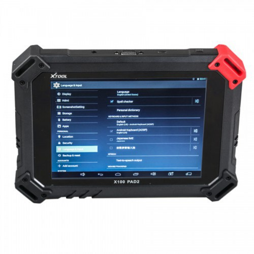 XTOOL X100 PAD2 OBD2 Auto Key Programmer Odometer Correction Tool