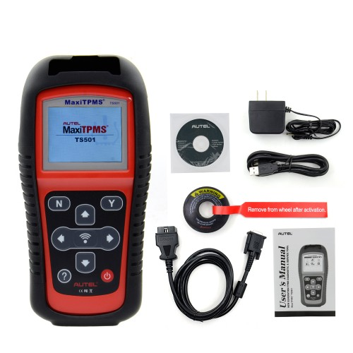 Autel MaxiTPMS TS501 TPMS Diagnostic And Service Tool activate TPMS sensors + reprogram vehicle ECU