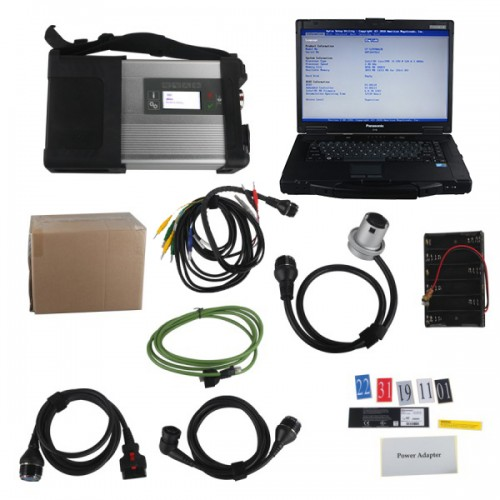 MB SD Connect C5 Star Diagnosis with Panasonic CF52 Laptop Software Installed Ready to use