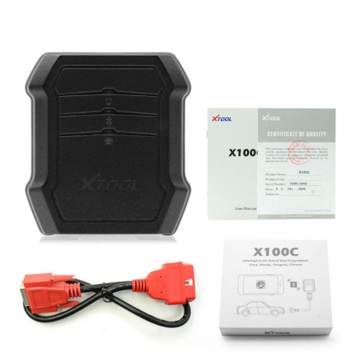 XTOOL X100C Auto Key Programmer for Ford/Mazda/Peugeot/Citroen 4 in 1 pin code reader